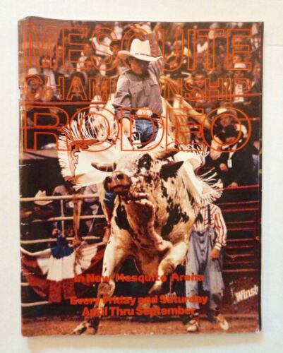 Vintage 1986 MESQUITE CHAMPIONSHIP RODEO Program Book TEXAS Arena Cowboys