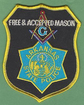 ARKANSAS STATE POLICE MASONIC LODGE PATCH