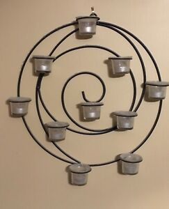 Spiral tea light candle display
