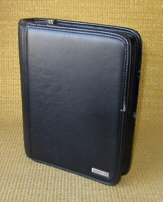 Classic 1.5 Rings Black Sim. Leather Franklin Covey Zip Plannerbinder W Tab