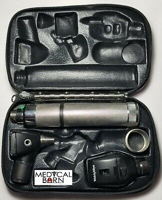 Welch Allyn 3.5v Diagnostic Set W Otoscope Ophthalmoscope Plug-in Handle