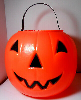 Empire Blow Mold Jack O Lantern Pumpkin Trick or Treat Candy Bucket