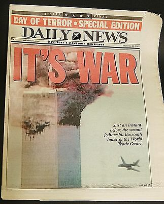 NEW YORK DAILY NEWS - SEPTEMBER 12, 2001 - 9/11  ATTACKS