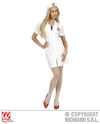 Krankenschwester Arzt Kostüme (Krankenschwester weiß Nurse Gr. S - XL  Karneval Uniform Kleid Fasching Arzt)