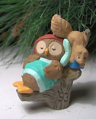 Hallmark Keepsake Ornament Owliver with Squirrel 1993