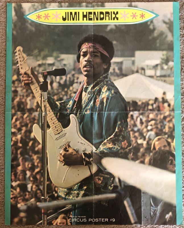 Jimi Hendrix 70s Circus Magazine Poster #9