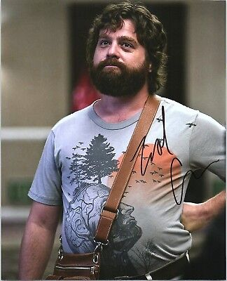 Zach Galifianakis Signed Autographed The Hangover 8X10 C