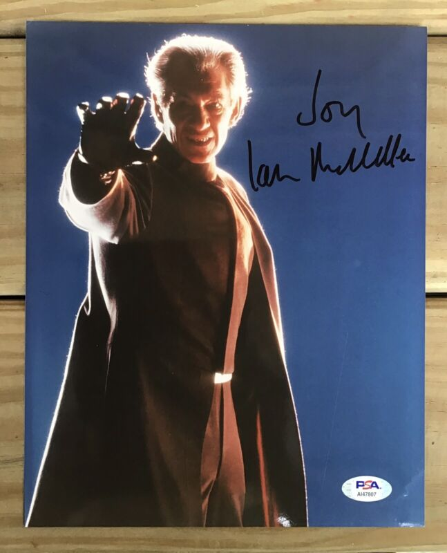Ian McKellen Signed X-Men Color 8X10 PSA Authenticated