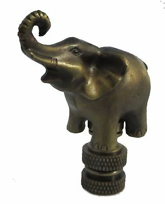 ELEPHANT LAMP SHADE FINIAL ANTIQUE BRASS