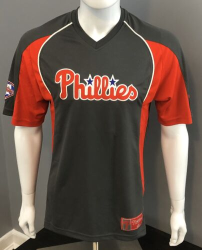 Philadelphia Phillies Grey Clean Up Hitter V-Neck Jersey T-S