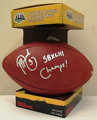 Jeff Reed Pittsburgh Steelers Authentic Super Bowl XLIII Autographed Football