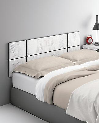 Cabezal cabecero 150cm blanco estampado de cama matrimonio 135cm 150cm