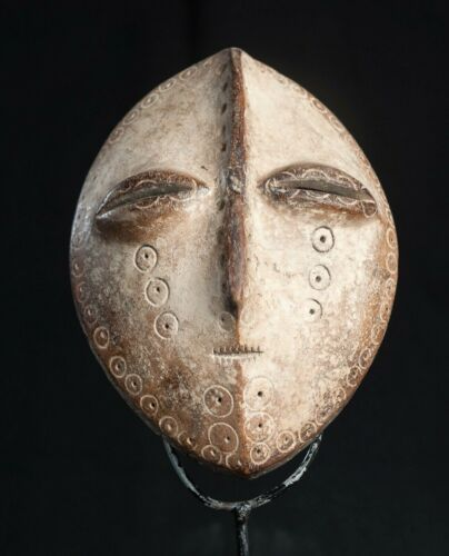 Lega Bwami Society Mask, Democratic Republic of Congo, African Tribal Masks