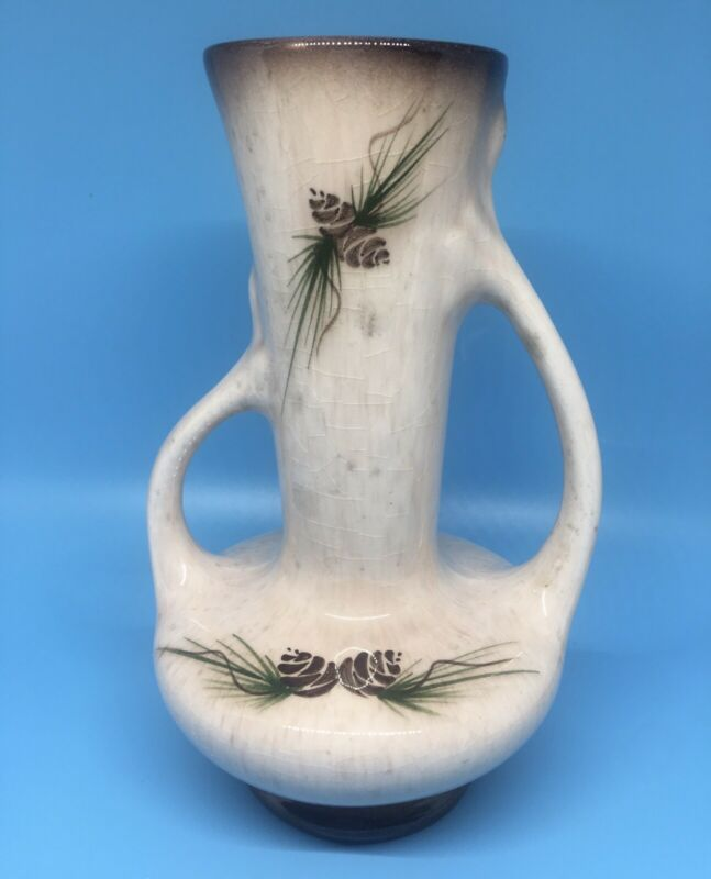 Vintage Rocky Mountain Pottery Company Double Handle Vase
