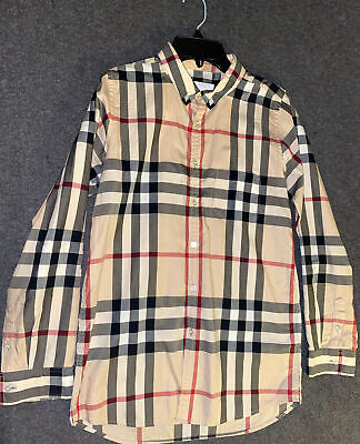 Burberry Boys Check Shirt 14Y Authentic 100%