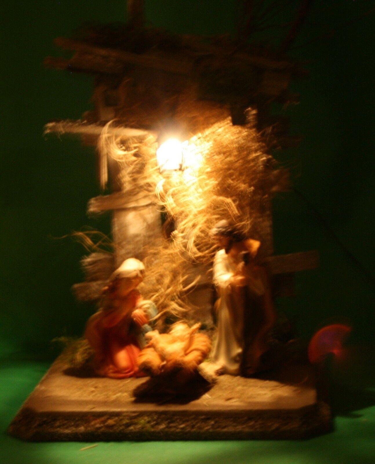 krippe weihnachten holz mit figurenset heilige familie. Black Bedroom Furniture Sets. Home Design Ideas
