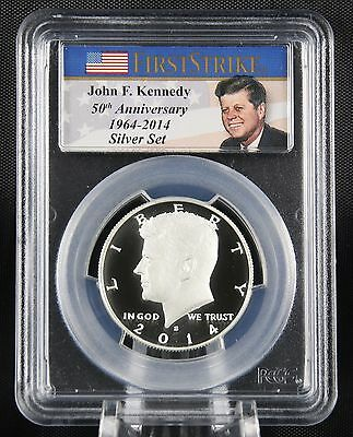 Click now to see the BUY IT NOW Price! 2014 S SILVER ENHANCED KENNEDY 50TH ANNIVERSARY PCGS MS 70 DMPL FIRST STRIKE MAC
