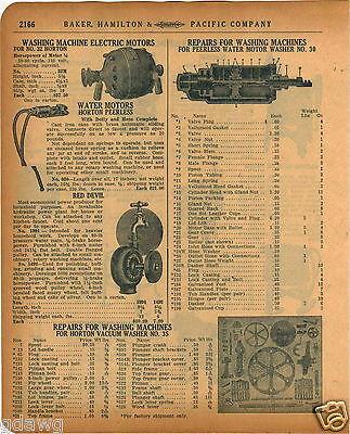 Devils Washer - 1920 PAPER AD Peerless Water Motor Parts Repair Red Devil Washing Machine Horton