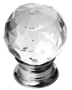 Verre en cristal bouton de porte commode placard meuble Bouton cristal meuble cuisine