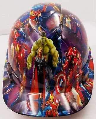 Hard Hat Custom Hydro Dipped Osha Approved Super Heroes Comic Book Style
