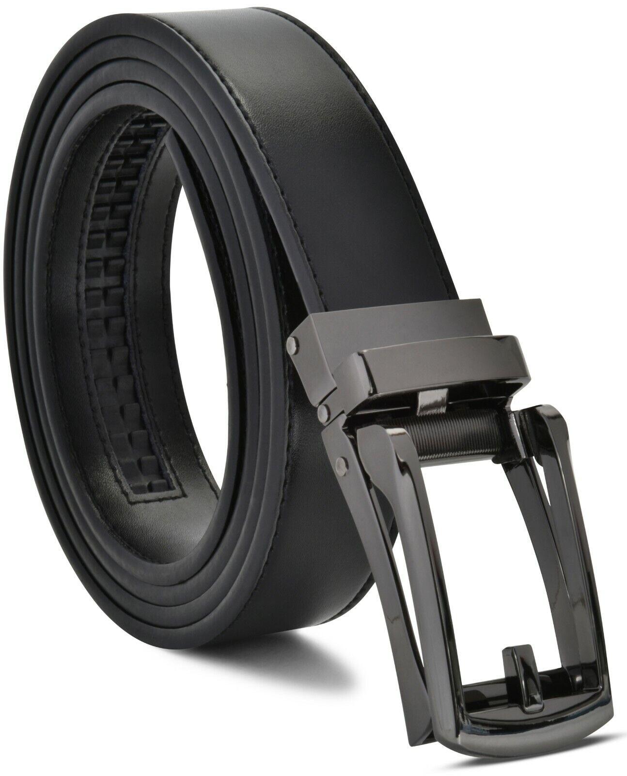 Men's Ratchet Belt Genuine Leather Mens Belt with Slide Ratc