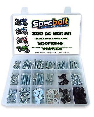 Silver 10x Windscreen Spike Bolt Kit CBR Mount M5 x 1.25p Wellnut Fairing