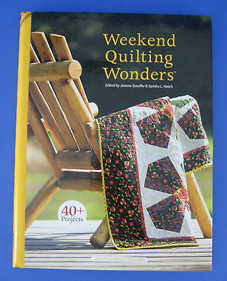 Weekend Quilting Wonders Hardcover Book Projects Totes Dog Bed Table Runners