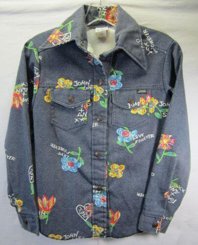 Vintage Sears Growing Girl Denim Shirt Jacket Size 14