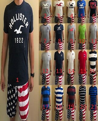 NWT Hollister Abercrombie Fitch Mens Graphic Crew Short Sleeve Tee T shirt SMLXL