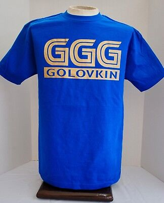 Ggg T Shirt Mens Tee Gennady Golovkin Canelo Boxing Fight Tee Royal Blue