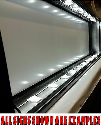 4 X 6 Led Lighted Box Sign Double Sided Fully Built