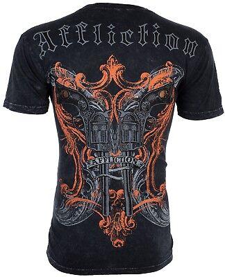 AFFLICTION Mens T-Shirt DEAD OR ALIVE Guns Tattoo Motorcycle Biker UFC $58 NWT (Dead Alive T Shirt)
