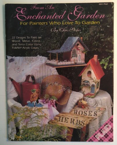 Decorative Painting Pattern Book ENCHANTED GARDEN by Chris Stokes
