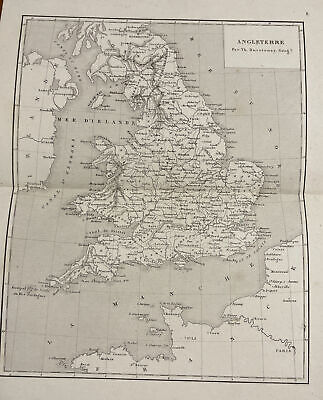 WORCESTERSHIRE VINTAGE OLD COUNTY MAP ART PRINT Hotel B/&B Room Picture Antique