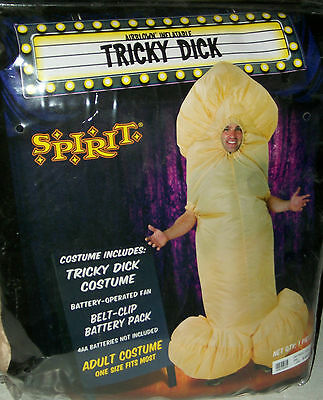 Tricky Dick inflatible Halloween party trick or treat Mardigra costume gay int - Mardigra Costume