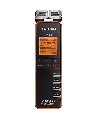 Tascam DR-08 Compact Portable Digital Recorder(Black)