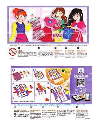 Komplettsatz Fashion-Creator Girls SE552 - SE552A mit 2 BPZ aus Indien