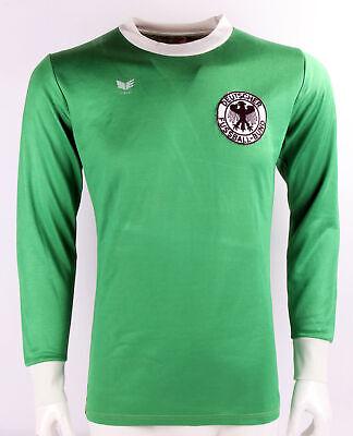L/s Spieler (DFB Deutschland Spielertrikot Shirt 77/78 away grün match worn l/s langarm #7)