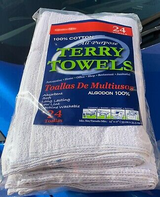 48 Cotton Barmop Terry Towels 15x19 -- Free Shipping