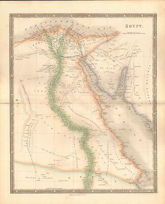 1843 ANTIQUE MAP- DOWER - EGYPT