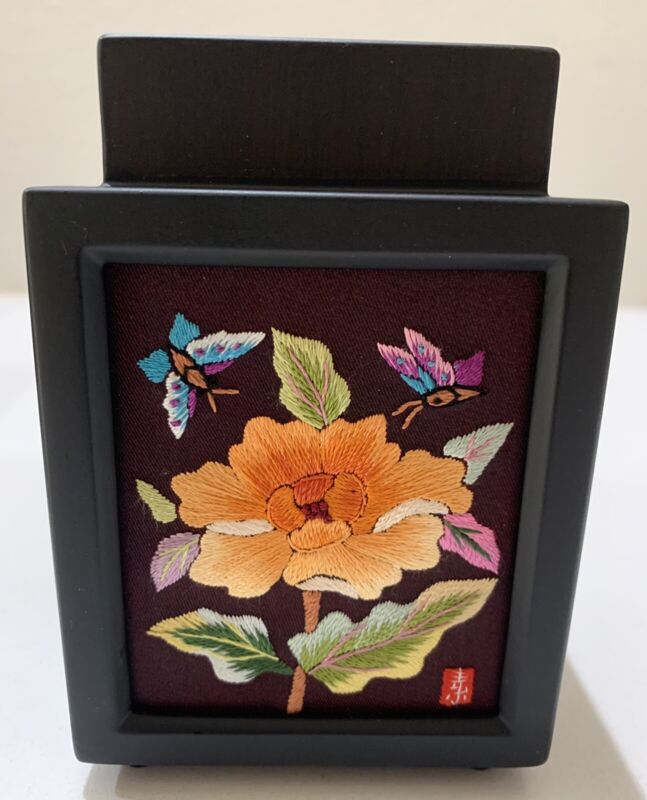 Korean Yega Hand Embroidered Wood Box