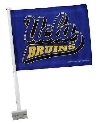 OFFICIAL LICENSED UCLA BRUINS CAR FLAG, 2-SIDED -