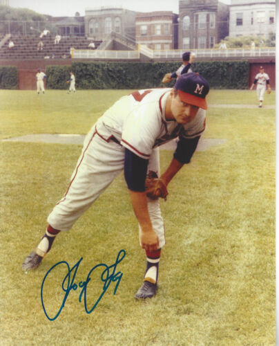 Milwaukee Braves Joey Jay  autographed 8x10 photo former Reds 21 game winner