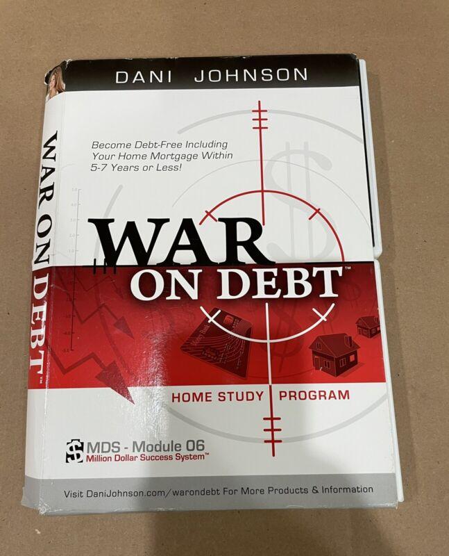 Dani Johnson WAR ON DEBT   Home Study Program 1 DVD & 2 CDs + Workbook