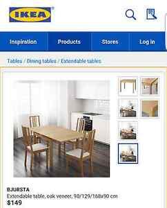 IKEA BJURSTA EXTENDABLE DINING TABLE Mosman Mosman Area Preview
