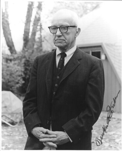 "Buckminster Fuller. American Architect, B/w, 8""x10"", Autographed Photograph"