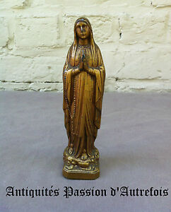B20150149-Objet-religieux-Vierge-en-regule-de-15-cm-Tres-bon-etat