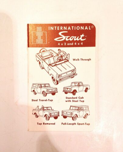 Vintage 1963-65 International Harvester IH Scout 80 Price & Options Booklet RARE