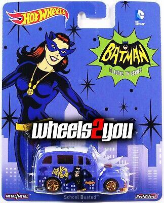 SCHOOL BUSTED Catwoman - Hot Wheels Pop Culture BATMAN CLASSIC - Catwoman Hot