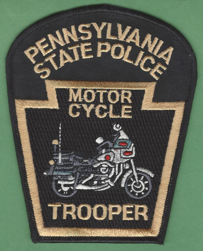 PENNSYLVANIA STATE POLICE MOTORCYCLE UNIT SHOULDER PATCH